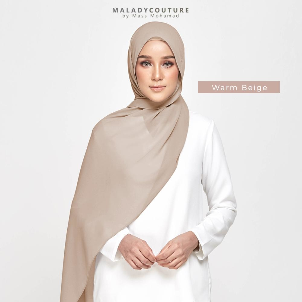 STYLE-LIT Tie Back Long Shawl Chiffon | Warm Beige - Semi Instant