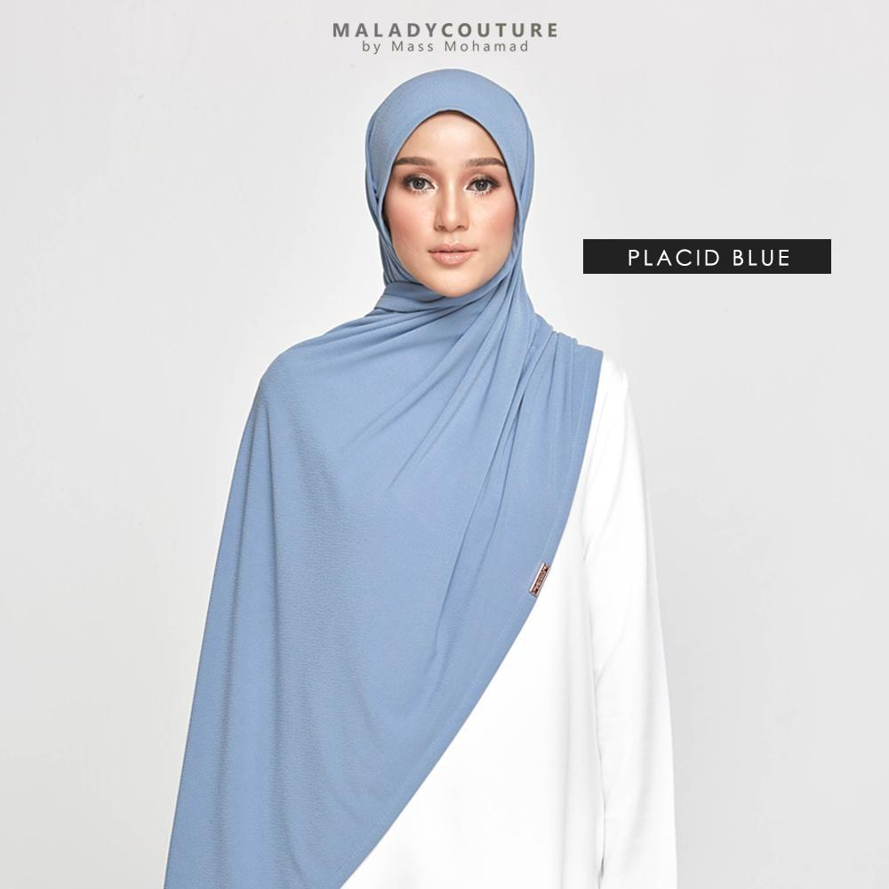 STYLE-LIT Tie Back Long Shawl | Placid Blue - Instant Shawl