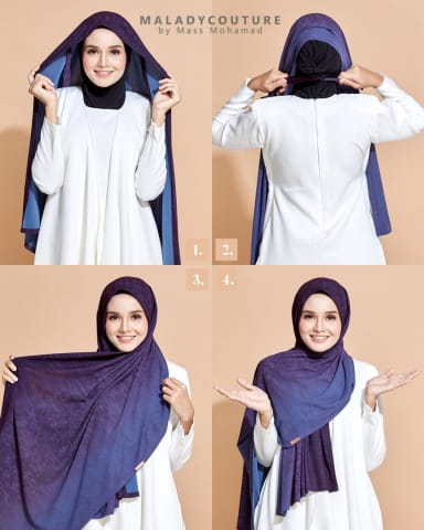 Style-Lit Tie Back Long Shawl Printed | Aurora