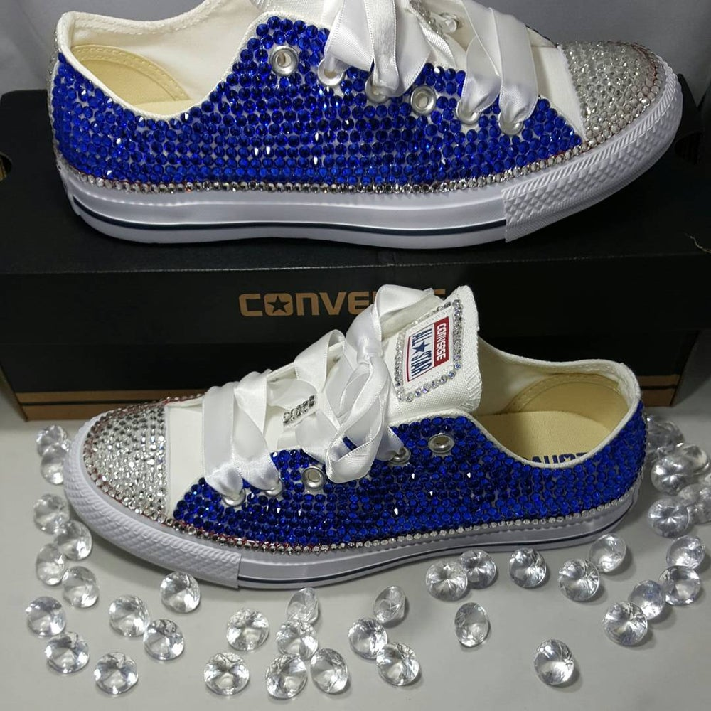 All Over Crystal Low Converse