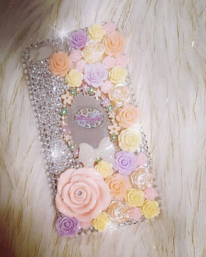 Iphone 7/8 Plus Flower Mirror Case