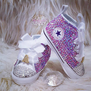 All Over Crystal High Converse