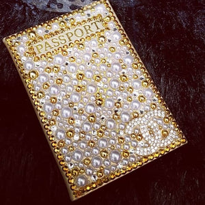 Bedazzled Passport Cover