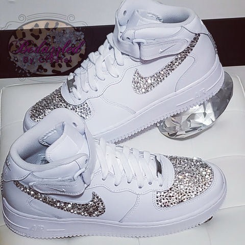 Bedazzled Nike Air Forces