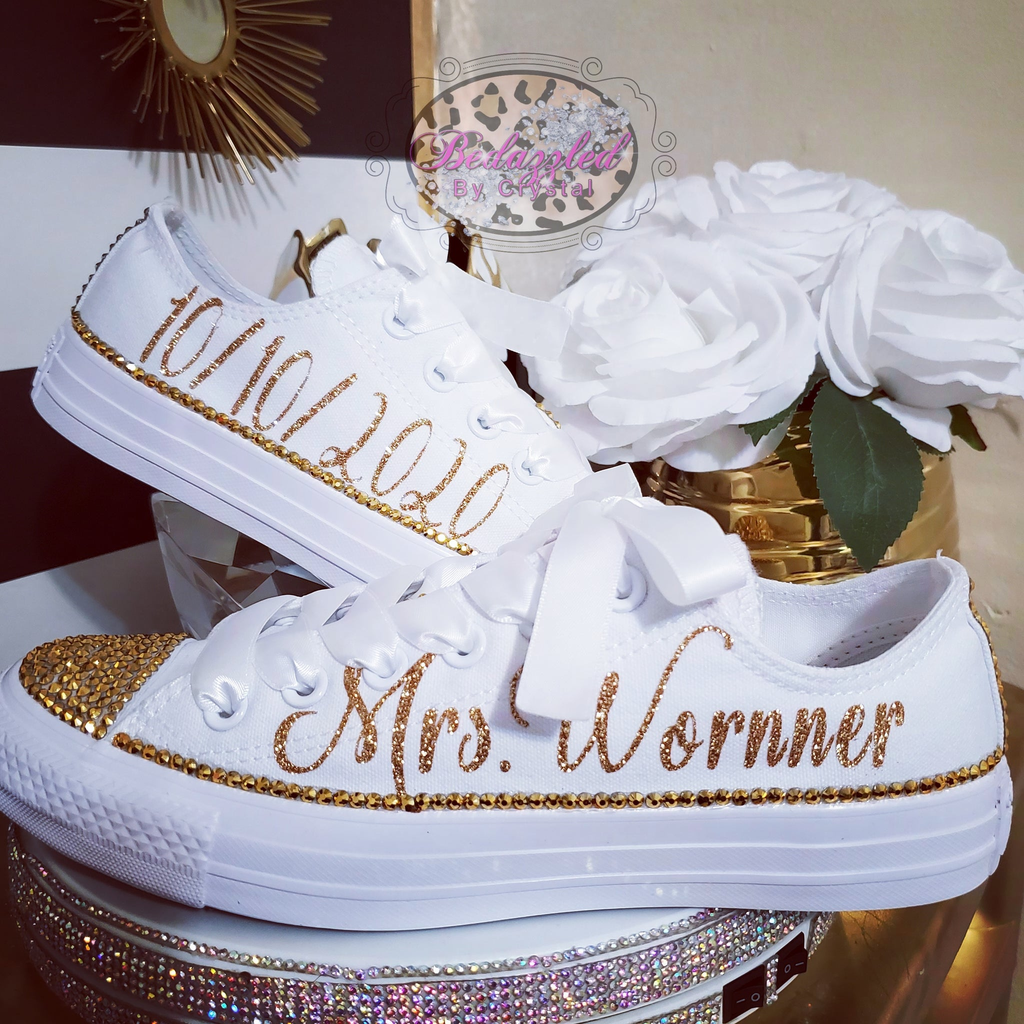 Mrs. Bling Converse Low