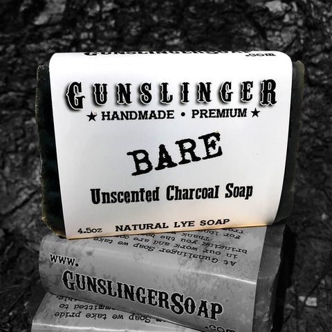 Bare - Unscented Activated Charcoal Soap - Natural Soap