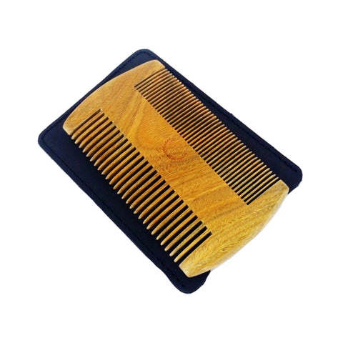 Sandalwood Beard and Mustache Comb - Double