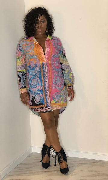 The Aniya Sexy Shirt Dress