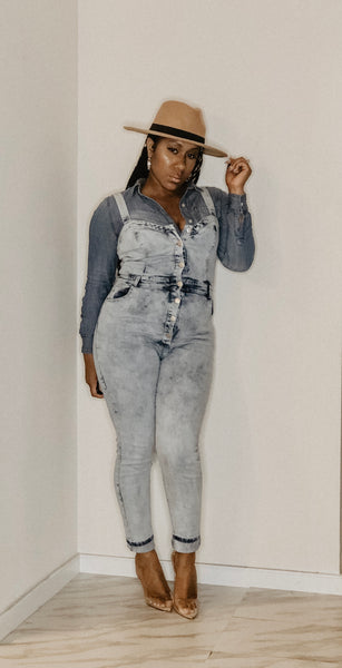 Betty Bop Denim Jumpsuit