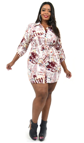 Read All About It T-Shirt Dress