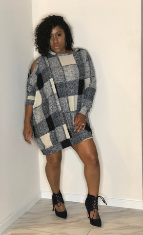 Plaid Me Down Knit Dress