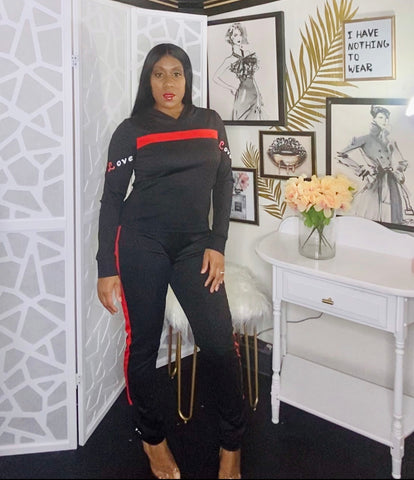 So Lovely 2-piece Hoodie Sweatsuit
