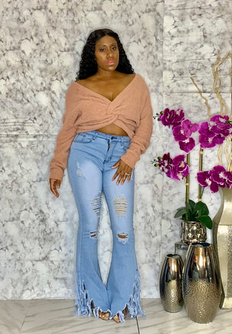 Ring The Alarm Distressed High Waist Jeans