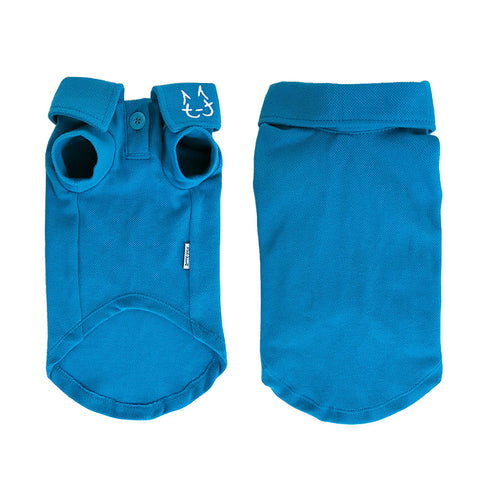 Wesley Polo - Peacock Blue - Cat-toure Cat Clothes