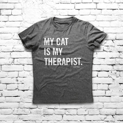 My Cat Is My Therapist - Unisex Tee - Cat-toure Cat Clothes