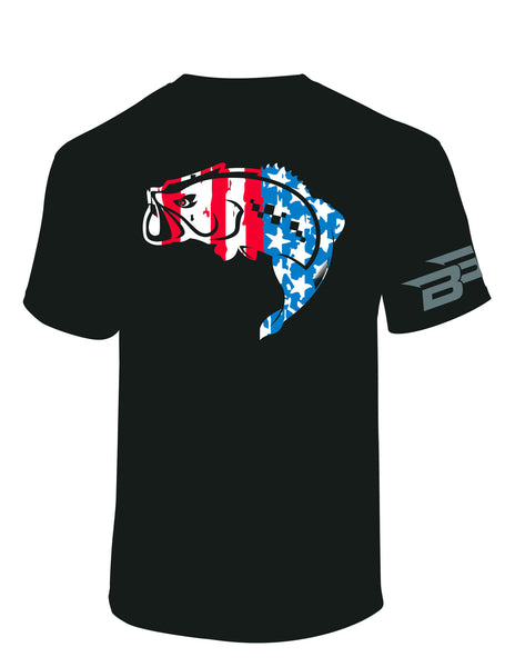 BassBlaster Red White and Blue T-Shirt
