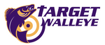 Target Walleye Purple and Gold Decal