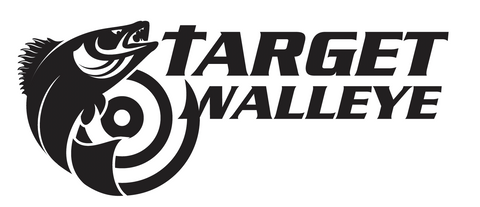 Target Walleye Black Decal