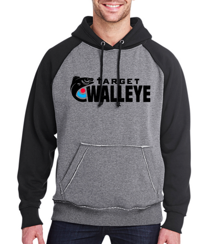 Target Walleye Classic Logo Vintage Heather Pullover Hood