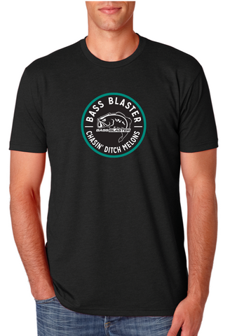 BassBlaster Circle Chasin' Ditch Melons Logo T-Shirt