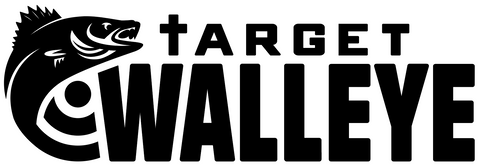 Target Walleye Black Wordmark Decal