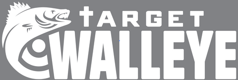 Target Walleye White Wordmark Decal