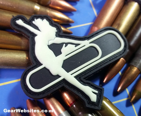 Stripper Clip PVC Glow in the Dark Patch