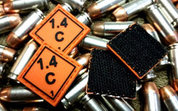 Ammo Placard, Orange PVC Patch