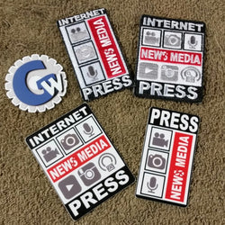 New Media - Small, Patch & Sticker Set