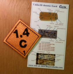 Original Ammo Placard, Orange Patch