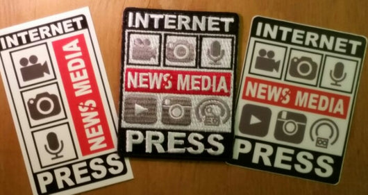 Sold Out - New Media - Large, Patch & Sticker Set