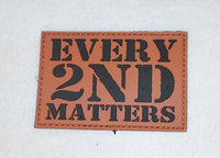 4 Pack of Every 2nd Matters (6th Gen) - PVC Patches