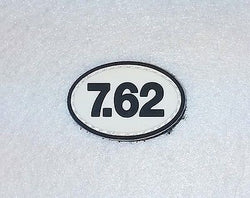 7.62 Oval PVC Patch