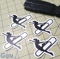 "Sold Out - Set of Four (4) ""Stripper Clip"" Stickers"