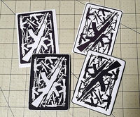 Sold Out - AK47 Playing Card Art PVC Patch