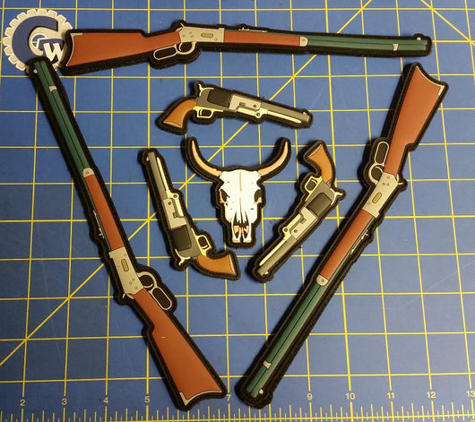 Sold Out - 6 Gun & Skull - Old West PVC Set