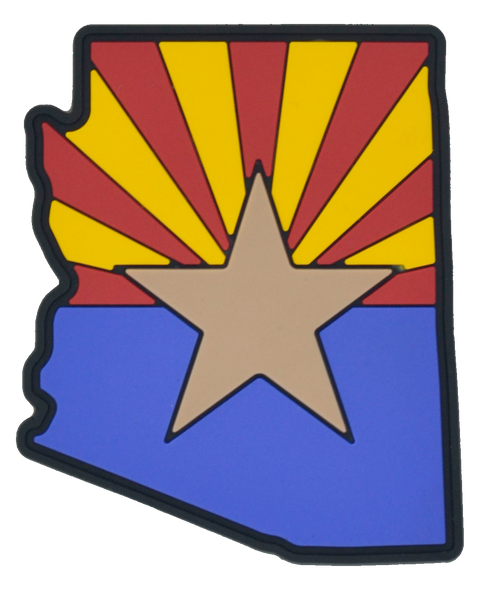 Arizona State Shape PVC Flag Patch