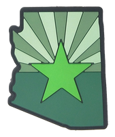 Arizona State Shape (Green) PVC Flag Patch