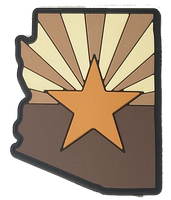 Arizona State Shape (Tan) PVC Flag Patch
