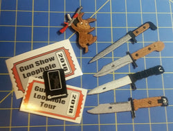 Kalashnikov Bayonet Patches Set of 4 WITH AKpril Patch