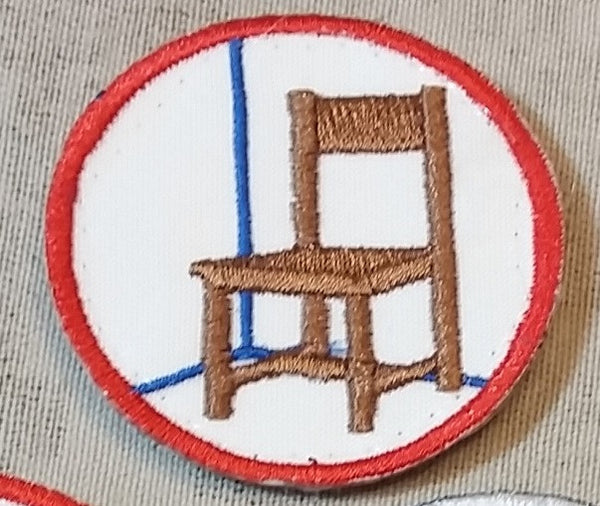 Sold Out - Chair Is Against the Wall (2nd Design) Patch