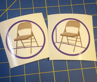Sold Out - Chair is Against the Wall (1st Gen) Sticker (2-Pack)