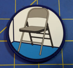 Chair is Against the Wall 1st Design PVC Patch