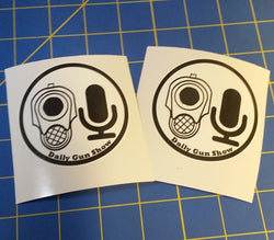 Daily Gun Show Logo Stickers (2 Pack)