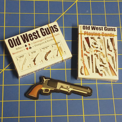 2 Old West Guns Deck & Patch SET