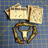 Sold Out - Four (4) Decks of Old West Guns Playing Cards & Patches SET