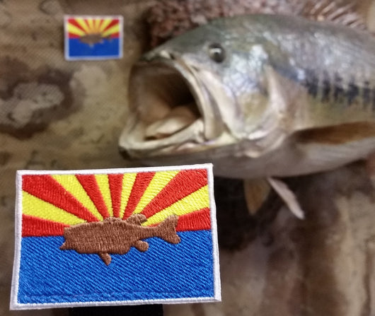Fish in AZ Flag Patch