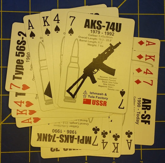 AK47 Identification Playing Card Deck