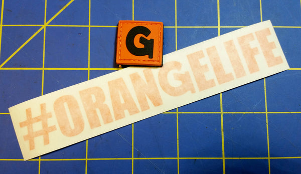 "Sold Out - Orange Life - Gun Channels ""Ranger Eye"" Patch & Decal"