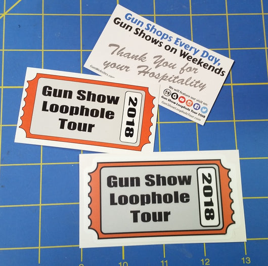 Sold Out - Gun Show Loophole Tour 2018 Ticket Sticker